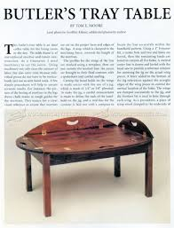 butler tray table plans u2022 woodarchivist