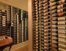 blue grouse builds wine cellar with vintage view wine racks