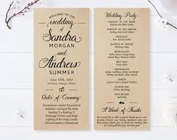 cardstock for wedding programs printed program etsy