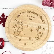 personalised santa s treat plate by auntie mims