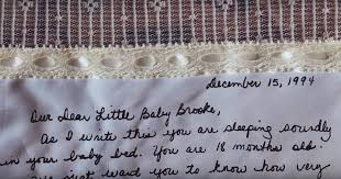 wedding gift letter saves a letter for more than 20 years to on