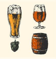 craft beer and pub sketch royalty free vector image