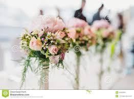 beach wedding decor table setting flowers stock photos images
