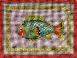 bring sea into your home with this colorful needlepoint