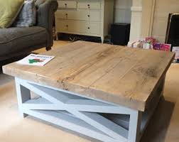 cross leg coffee table rustic coffee table etsy