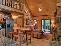 cabin style living room with a cozy country design living rooms