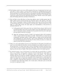 Big Blind Small Blind Rules Wsop 2009 Tournament Rules