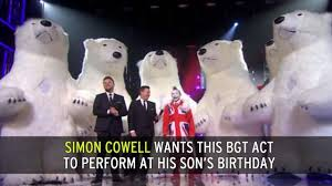 Two Polar Bears In A Bathtub Simon Cowell Books Britain U0027s Got Talent Polar Bear Act For Son