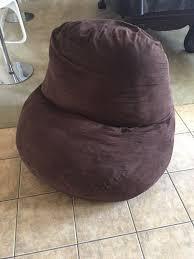 sleep innovations large memory foam bean bag chair brown