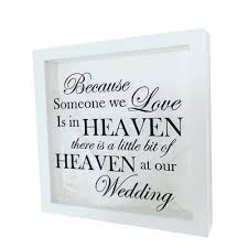 quote in memory wedding frame coco