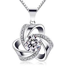 love necklace sterling silver images B catcher women jewellery eternal love necklaces 925 sterling jpg