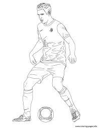 robin van persie soccer coloring pages printable