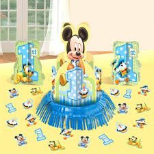 Birthday Table Decorations by Disney Baby Mickey Mouse 1st Birthday Party Table Centerpiece