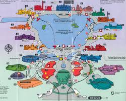 Disney Florida Map by Theme Park Brochures Walt Disney World Epcot Theme Park Brochures