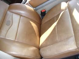 King Ranch Interior Swap King Ranch Leather Conditioner Before And After Pix Ford F150