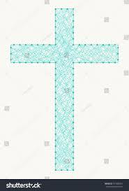 symbol christian cross made nails winding stock vector 471982915