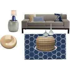 navy blue camel and elephant gray living room polyvore