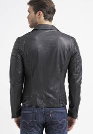 black leather biker jacket goosecraft men jackets biker leather jacket black goosecraft
