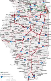 Map Of Indiana And Illinois by Illinois State Road Map With Census Information