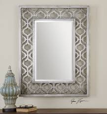 silver bathroom mirror rectangular 146 outstanding for black