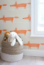 scion mr fox wallpaper for kids playroom little ones
