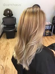 Light Blonde Balayage Sunkissed Light Blonde Balayage Ombré Highlights Warm Golden