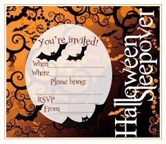 cards ideas with halloween sleepover invitations hd images picture