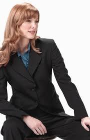 womens pinstripe suit dress yy