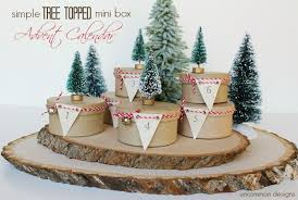 simple tree topped mini box advent calendar a countdown
