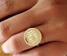gold monogram rings charm chain mini signet monogram ring gold rings jewelry