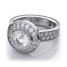 modern engagement rings carat modern style bezel sidestones diamond engagement ring in