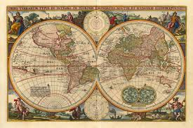 Large World Map Poster by 16990 Visscher Nicolaas J Orbis Terrarum Typus De Integro In