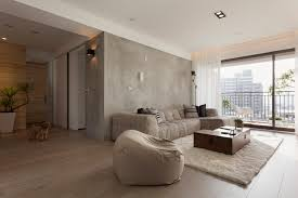 concrete feature wall living room interior design ideas