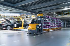 bmw factory robots bmw logistics now use autonomous transport robots