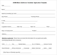volunteer application template u2013 15 free word pdf documents