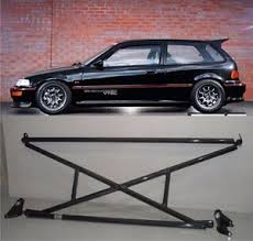 honda civic 91 hatchback parts x bar c pillar bar lower bar rear crossbar 88 91 honda civic 3dr