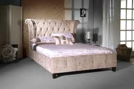 Velvet Bed Frame Mink Velvet Epsilon Bed Frame