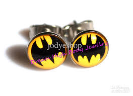 batman earrings 39 batman diamond earrings mens boys black stainless steel batman