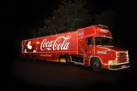 coca cola christmas truck on its way to mansfield mansfield and