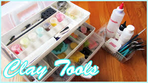 polymer clay tools storage u0026 where to buy youtube