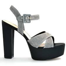 buy online heels stilettos modish silver high heel women sandals