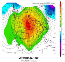 Weather Map United States by Christmas Snowstorm December 23 1989