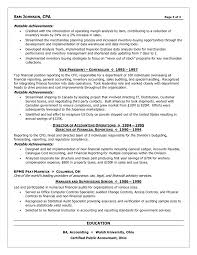 cfo resume exles executive cfo resume