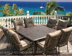 tortuga outdoor patio 9pc dining set for 8 person with square tortuga outdoor patio 9pc dining set for 8 person with square series 5000 table antique bronze finish