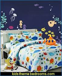 Fish Themed Comforters Underwater Theme Bedrooms Ocean Sea Life Theme Bedrooms