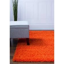 7 X 8 Area Rugs Shag Rug Shag Rug Orange High Quality Carpet Polypropylene