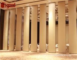 banquet hall sliding folding partition door soundproof retractable