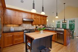 kitchen faucets seattle seattle cherry kitchen cabinets craftsman with butcher block