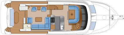 Luxury Yacht Floor Plans by Hampton Yachts
