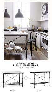 wayfair kitchen island crate and barrel kitchen island copycatchic